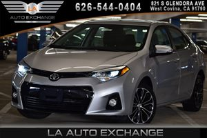 2015 Toyota Corolla S Plus Carfax 1-Owner - No AccidentsDamage Reported 4 Cylinders Black Grill