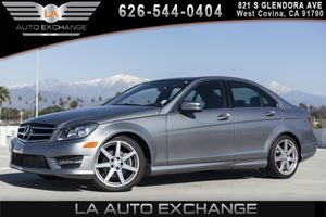 2014 MERCEDES C-Class Sport Sedan Carfax 1-Owner 2 12V Dc Power Outlets 2 Seatback Storage Pocke