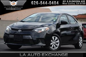 2015 Toyota Corolla LE Carfax 1-Owner 1 12V Dc Power Outlet 4 Cylinders 4-Way Passenger Seat 5