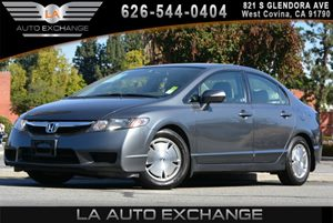2010 Honda Civic Hybrid  Carfax 1-Owner Air Conditioning  AC Chrome License Plate Trim Displa