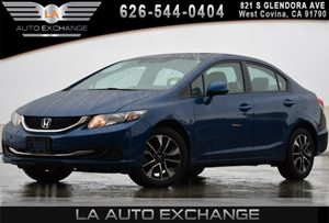 2013 Honda Civic Sdn EX Carfax 1-Owner 2-Tier Instrument Panel WBlue Backlit Gauges -Inc Tachom