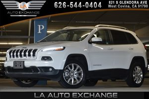 2016 Jeep Cherokee Limited Carfax 1-Owner 1 Seatback Storage Pocket 3 12V Dc Power Outlets And 1