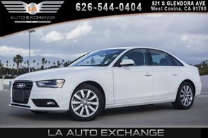 2013 Audi A4 Premium Carfax 1-Owner - No AccidentsDamage Reported 4 Assist Handles 4 Cylinder
