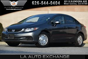 2013 Honda Civic Sdn HF Carfax 1-Owner - No AccidentsDamage Reported 15 Alloy Wheels WFull Co