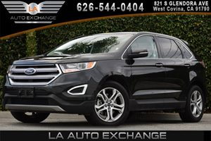 2015 Ford Edge Titanium Carfax 1-Owner 2 Seatback Storage Pockets 6 Cylinders 60-40 Folding Spl