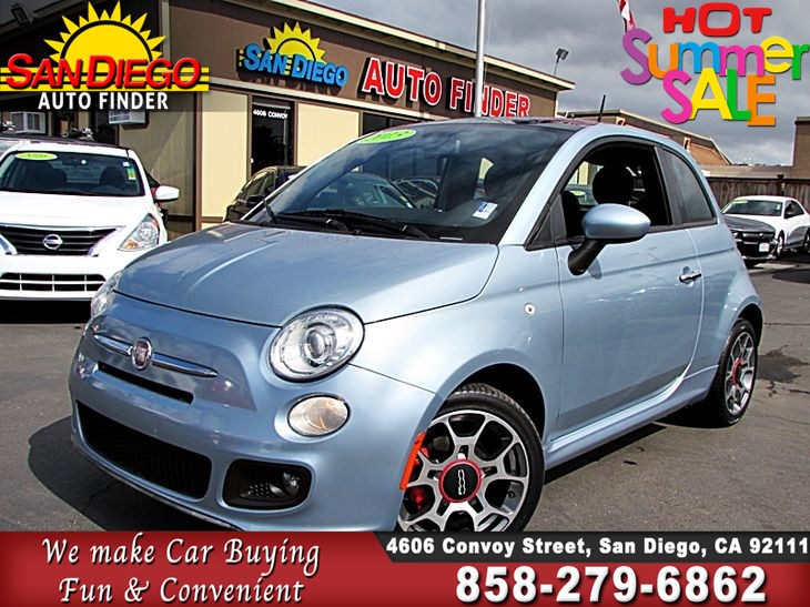 2013 Fiat 500 Sport Hb Military Discount Sdautofinders Com Leather Moonroof Cln Carfax San Diego Auto Finder
