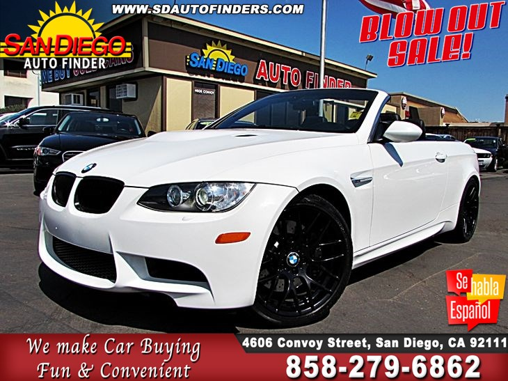 Sold 2009 BMW M3 CONVERTIBLE, LOW LOW MILES, SdAutoFinders.COM,CLEAN ...