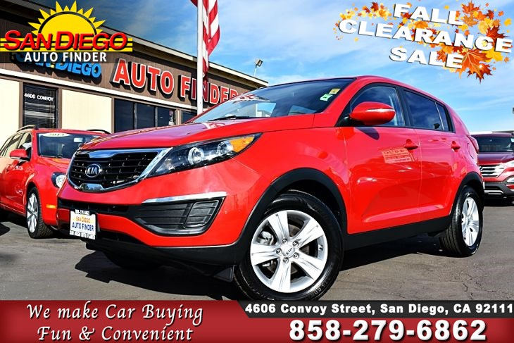 2012 Kia Sportage LX, 2.4 Liter 4 Cylinde With Only 43K Miles Clean Carfax Must See! SdAutoFinders.com,