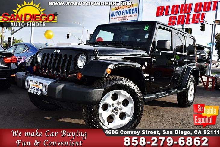 2013 Jeep Wrangler Unlimited,4WD 4dr Sahara,NAVIGATION, SdAutoFinders.com,Clean Carfax, Like New,
