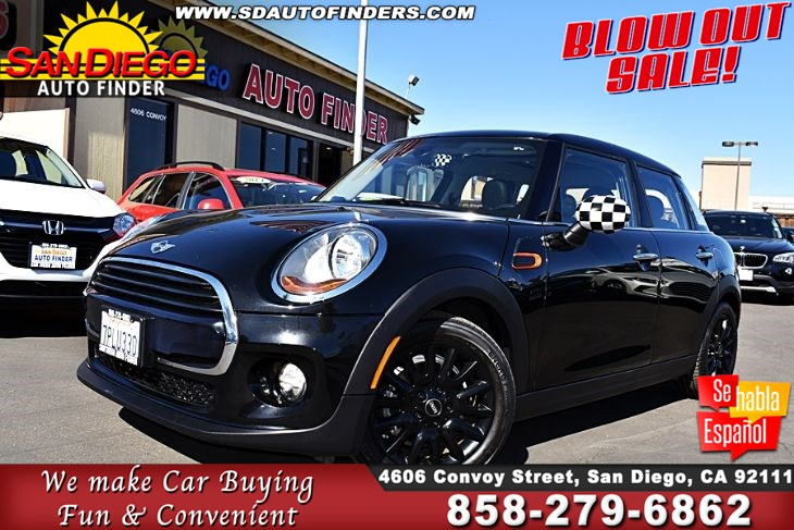 2016 MINI Cooper, 1 Owner,PANORAMIC Roof, Low Miles, SdAutoFinders.com, Clean Carfax, immaculate,