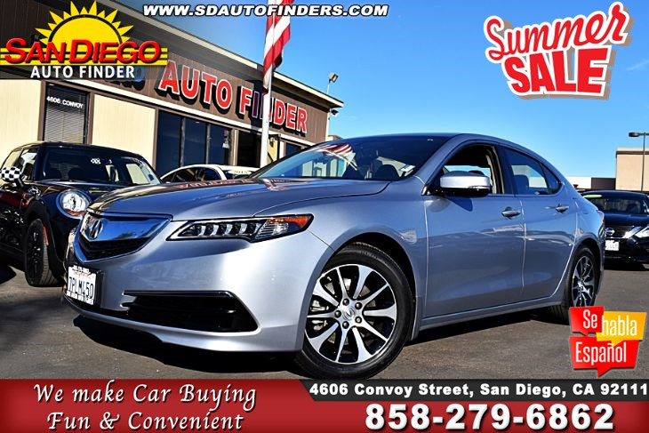 2016 Acura TLX, 1 Owner, Super Nice,Clean Carfax, SdAutoFinders.com,Don't miss it,EZ Financing,