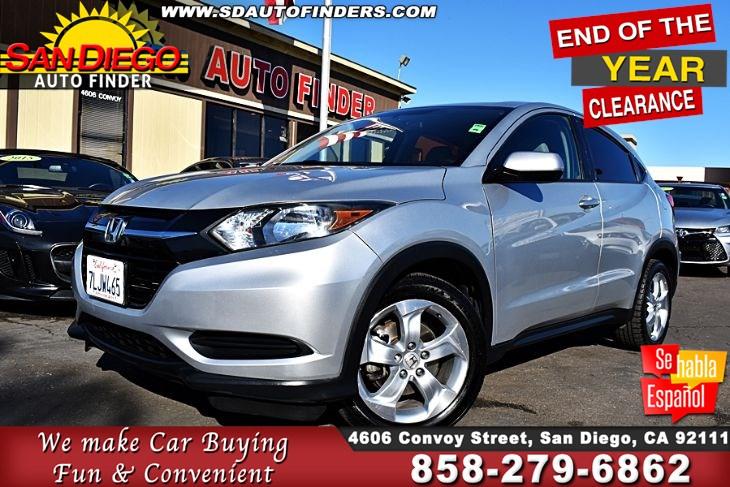 2016 Honda HR-V LX 1-Owner Clean Carfax 34mpg on the highway,Sdautofinders.com