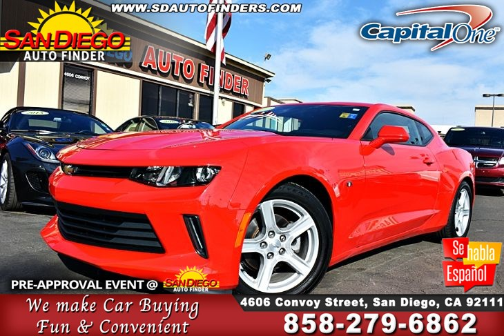 2017 Chevrolet Camaro LS,6-Speed Manual SdAutoFinders.com, Clean Carfax,