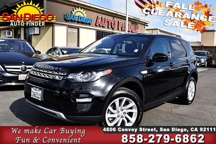 "2017 Land Rover Discovery Sport HSE 4WD,1 owner,Clean Carfax, ""FullyLoaded"" Turbocharged 2.0L SdAutoFinders.com,"