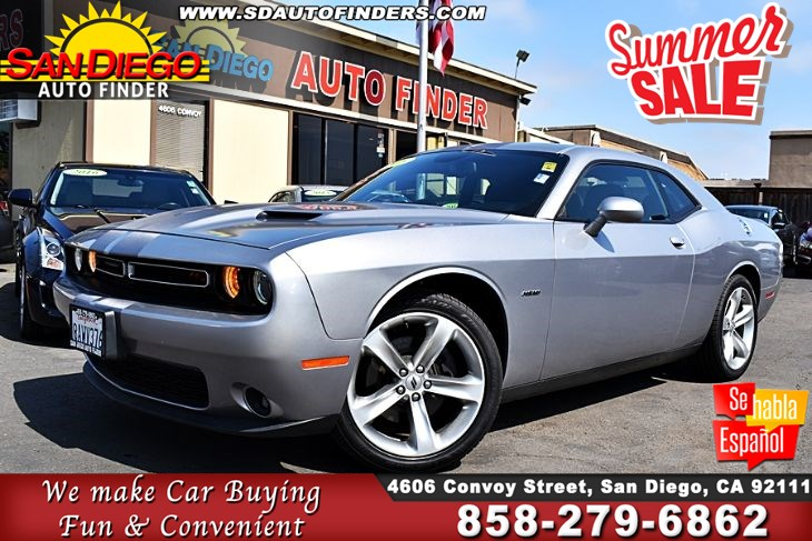 2018 Dodge Challenger,R/T 5.7L 'HEMI' MOONROOF ' SDautoFinders.com,1 Owner,Clean Carfax,Jst Awesome