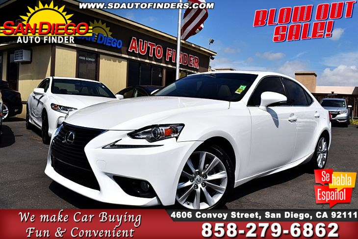 2014 Lexus IS 250 Sport, Low Miles,Just Immaculate, SdAutoFinders.com,Clean Carfax, Great Value,