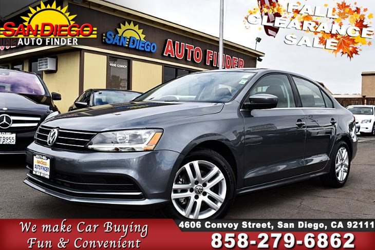 2017 Volkswagen Jetta 1.4T S,Auto,1 Owner, Like New, SdAutoFinders.com, Great Value, Don't miss it,