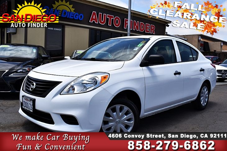 2014 Nissan Versa S, Low Miles, Manual Trans,Super Nice, SdAutoFinders.com,Clean Carfax, Priced to sell,..