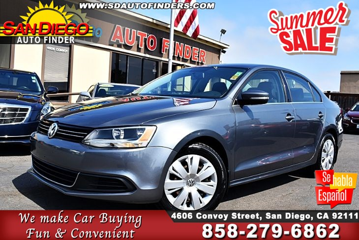 2013 Volkswagen Jetta Sedan SE,Luxury Leather,Just Immaculate, SdAutoFinders.com,Clean Carfax,A Must See,