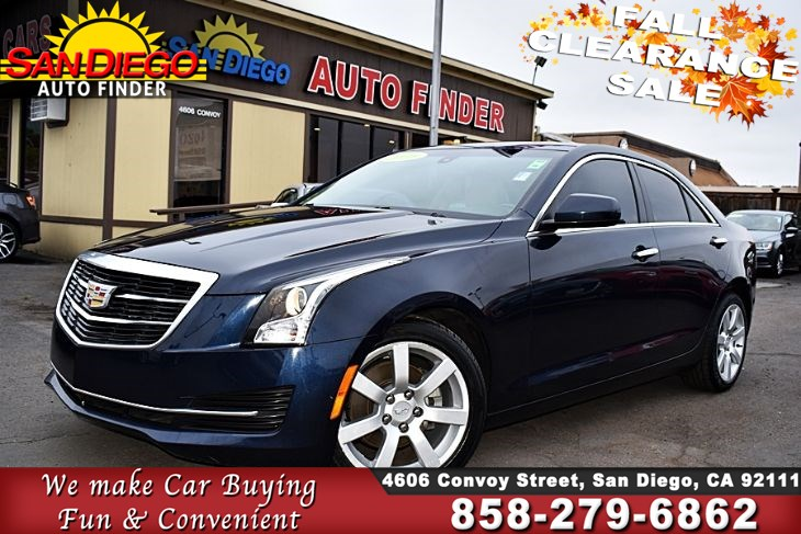 2016 Cadillac ATS, 1 Owner,Low Miles,Absolutely Immaculate, SdautoFinders.com,Clean Carfax, Great Value,