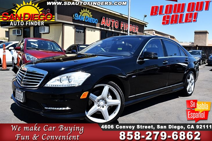 2012 Mercedes-Benz S 550, AMG Sport Pkg*Fullyloaded* Low Miles (67K) Must See!! Clean Carfax- Sdautofinders.com