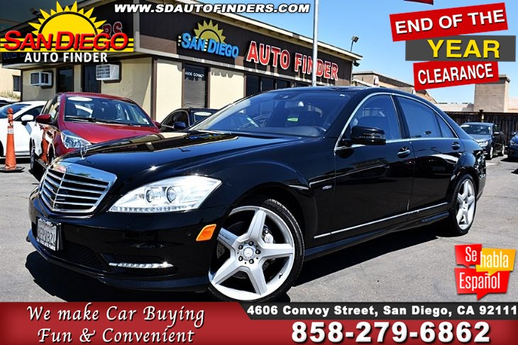 2012 Mercedes-Benz S 550, AMG Sport Pkg*Fullyloaded* Low Miles (60K) Must See!! Clean Carfax- Sdautofinders.com