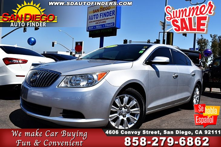 2013 Buick LaCrosse,HYbrid,1 Owner,Immaculate,'GAS SAVER', SdAutoFinders.com,Clean Carfax,A Must See,