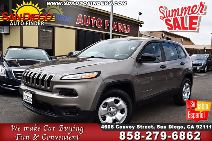 2016 Jeep Cherokee, 4WD 4dr Sport,Super Nice,Great Value, SdAutoFinders.com,Clean Carfax,Don't miss it,