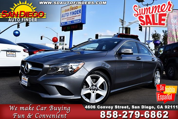 2015 Mercedes-Benz CLA 250, Low Low Miles,1 owner,Pristine Condition, SdAutoFinders.com,Clean Carfax, EZ Financing,