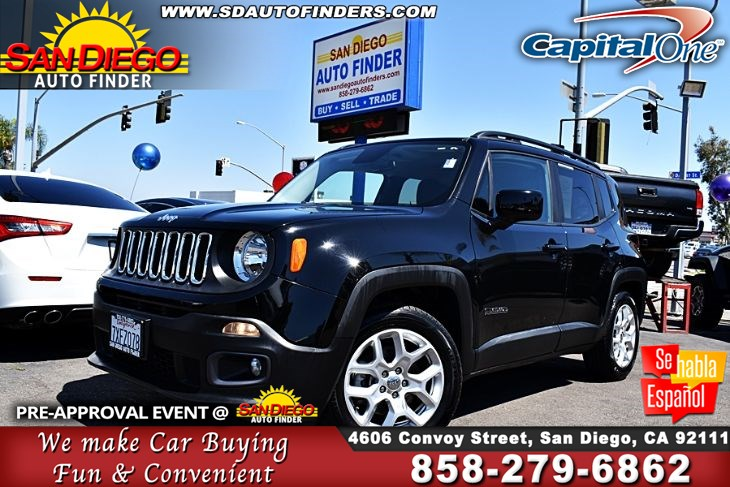 2017 Jeep Renegade Latitude,1 Owner,Flex fuel,Super Nice, SdAutoFinders.com,Clean Carfax,Don't Miss it,