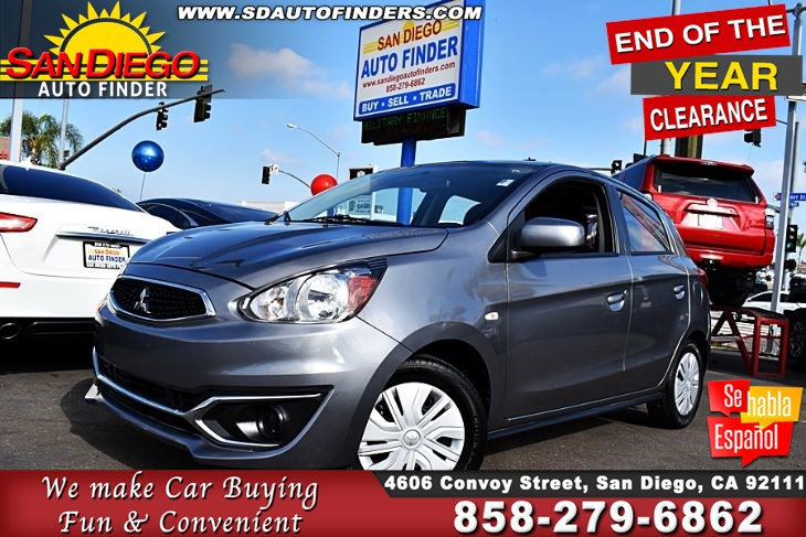 2017 Mitsubishi Mirage ES, Manual,Just Like New,Awesome Gas Saver, SdAutoFinders.com,Clean Carfax,Don't miss it..