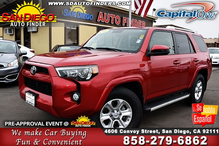 2016 Toyota 4Runner, SR5* Third Row Seat * Navagation* Back Up Camera*Clean Carfax! Sdautofinders.com