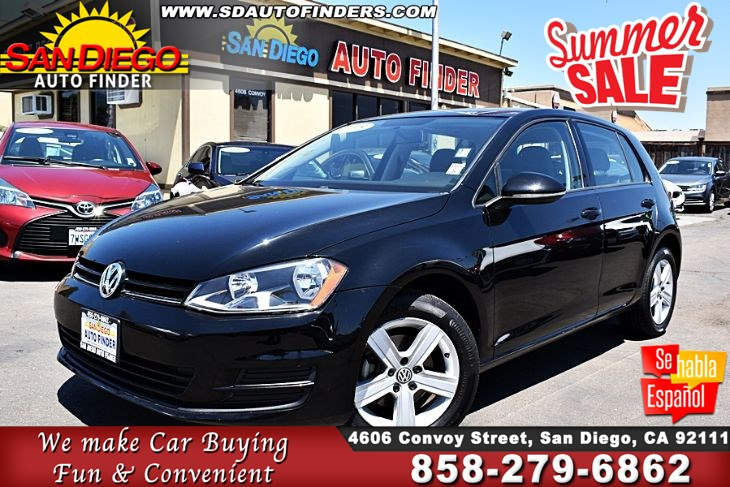 2015 Volkswagen Golf TDI S, Only 23k Miles, Just Like New, SdAutoFinders.com,1 Owner,EZ Financing,,