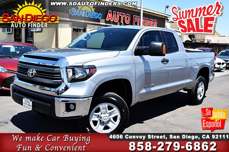 2015 Toyota Tundra SR5 Double Cab V8 5.7L Very Clean 1-Owner SdAutoFinders.com,