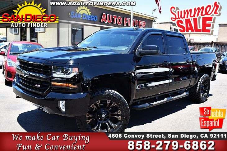 "2017 Chevrolet Silverado Z71 CrewCab 4x4 Suspension Lift on 20"" Rims & Tire's To Much To List! SdAutoFinders.com,"