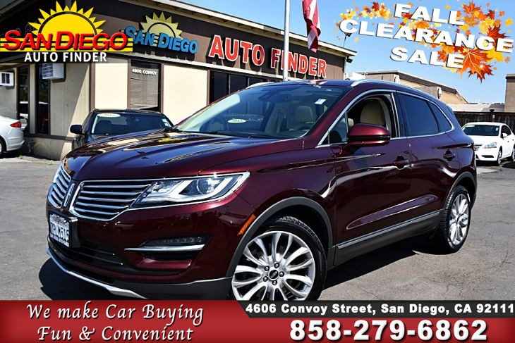 2016 Lincoln MKC 2.0L EcoBoost FullyLoaded Navigation Back Up Camera MoonRoof Must See!! Sdautofinders.com