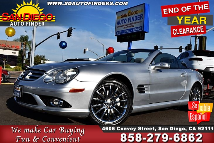 2008 Mercedes-Benz SL550,Roadster, World's Top Luxury Roadsters Clean Carfax MUST SEE! SdAutoFinders.com,