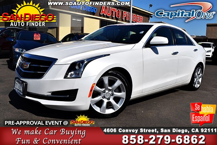 2016 Cadillac ATS 2.0L Turbo, Low Miles,1 owner,Super Nice, SdAutoFinders.com,A Must See,
