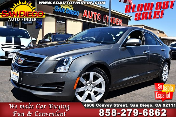 2016 Cadillac ATS 2.5 LITER 4 CYLINDER 1-OWNER 33K MILES Clean Carfax SDAUTOFINDERS.COM,