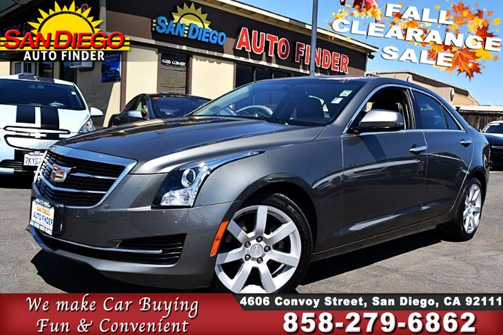 2016 Cadillac ATS 2.5L,1 owner,Low Miles,Like New, SdAutoFinders.com,Clean Carfax,Nice,
