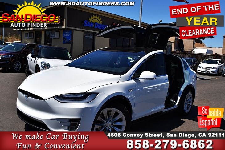 2016 Tesla Model X 90D AutoPilot  W/ 3RD Row Bucket Seat Air Suspension Clean Carfax  SdAutoFinders.com,