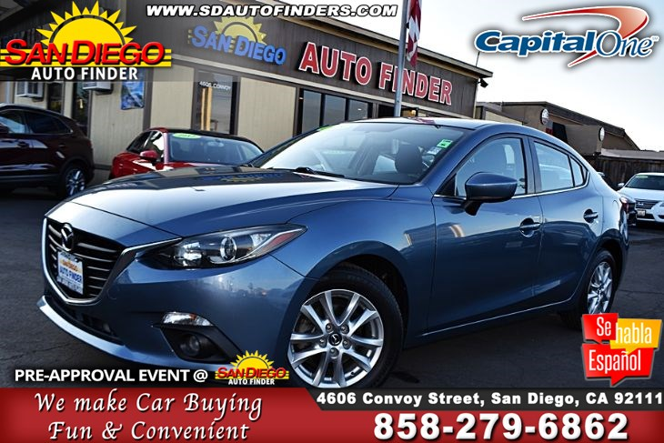 2015 Mazda Mazda3,i Touring, 1owner, Super Nice,Clean Carfax, SdAutoFinders.com,A Must see,