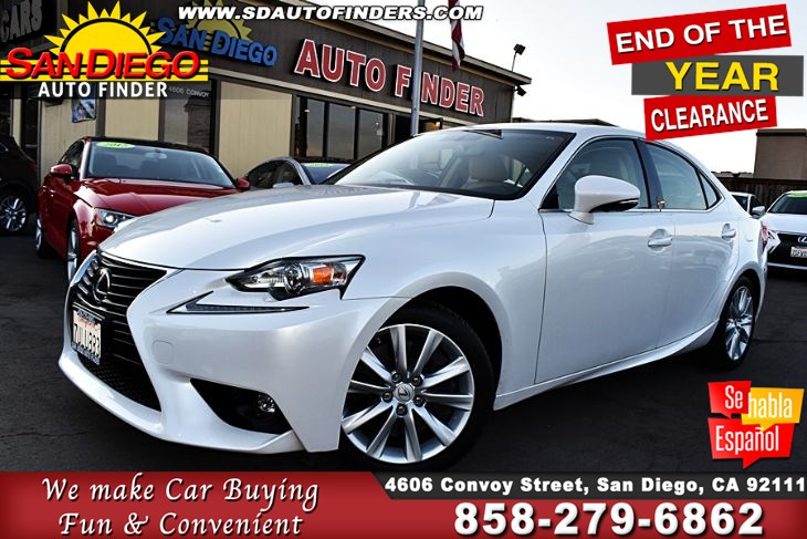 2016 Lexus IS 200t, TurboCharged 2.0 Liter 4 Cylinder MoonRoof 1-Owner SdAutoFinders.com