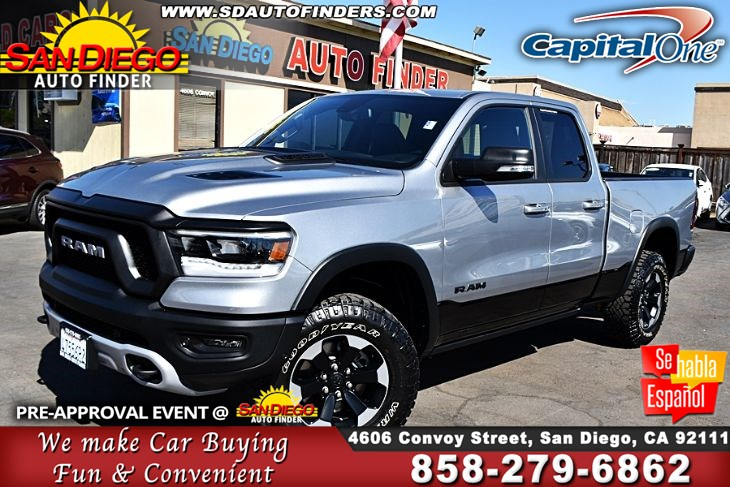 "2019 Ram 1500 Rebel 4x4 Quad Cab 6'4"",Just Like New, SdAutoFinders.com,Only 6k miles,"