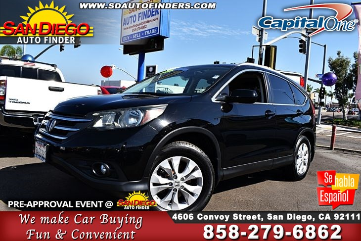 2013 Honda CR-V EX-L,Loaded,Amazingly well cared for, SdautoFinders.com,Clean Carfax,Don't miss it,