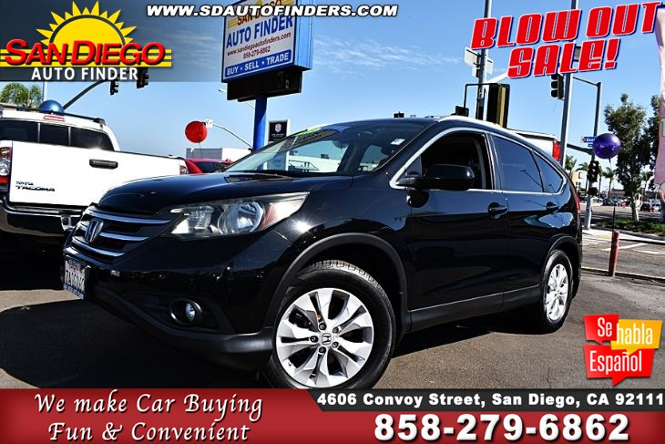 2013 Honda CR-V EX-L, Leather Seats W/SunRoof Clean Carfax Low Miles! 74K SdautoFinders.com,
