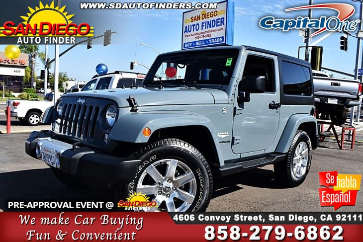 2014 Jeep Wrangler 4WD 2dr Sahara,Low Miles,Hard Top, SdAutoFinders.com,Clean carfax,Real Nice,