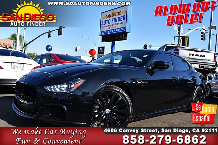 2016 Maserati Ghibli,DE Style Full Body Kit W/ Exhaust Tip 1-Owner Clean Carfax SdAutoFinders.com,