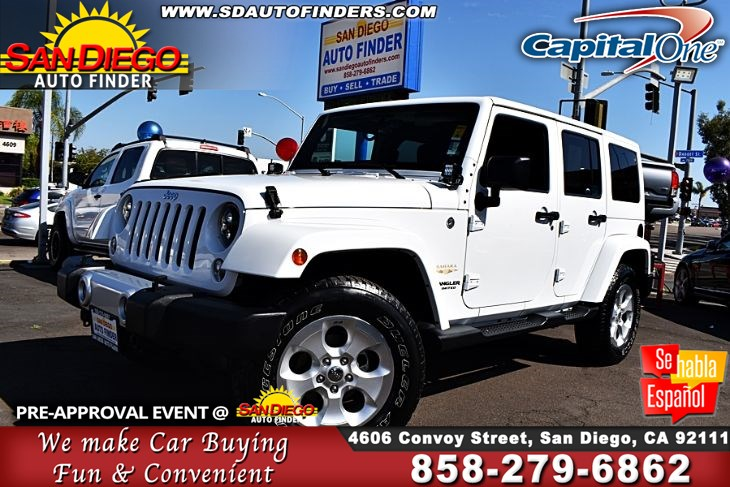 San Diego Jeep >> 2014 Jeep Wrangler Unlimited 4wd Sahara Many Extras Super Awesome Sdautofinders Com Cln Carfax San Diego Auto Finder
