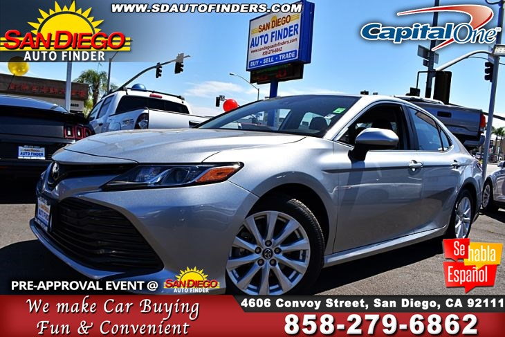 2019 Toyota Camry LE,Just Like New,9k Miles,1 owner, SdautoFinders.com,Clean Carfax,